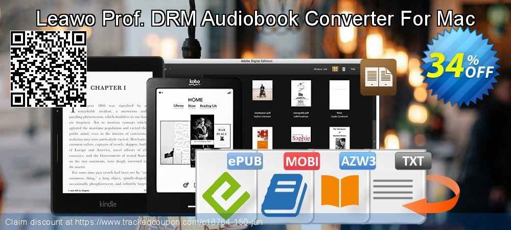 Leawo Prof. DRM Audiobook Converter For Mac coupon on Happy New Year offering discount