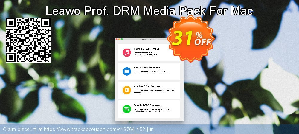 Leawo Prof. DRM Media Pack For Mac coupon on New Year super sale