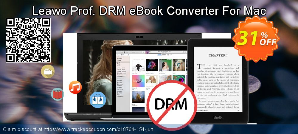 Get 30% OFF Leawo Prof. DRM eBook Converter For Mac promo sales