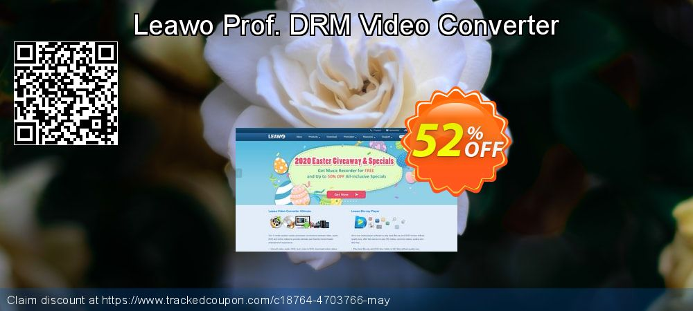 Leawo Prof. DRM Video Converter coupon on Halloween offering discount