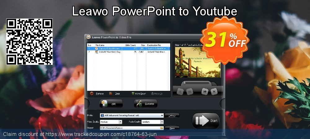 Get 30% OFF Leawo PowerPoint to Youtube promo sales