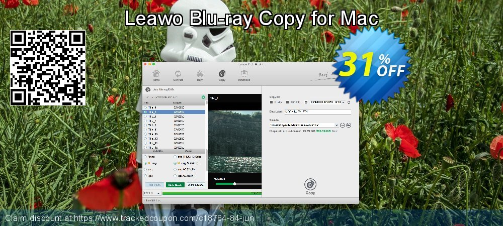 Leawo Blu-ray Copy for Mac coupon on Valentine's Day offering sales