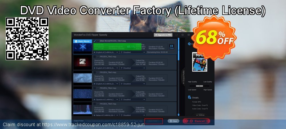 Get 30% OFF WonderFox DVD Video Converter discounts