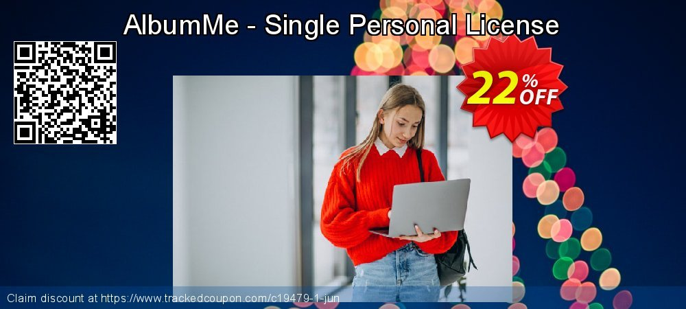 Get 20% OFF AlbumMe - Single Personal License promo