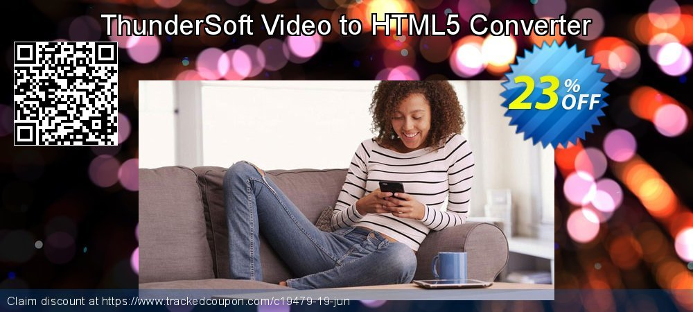 Get 20% OFF ThunderSoft Video to HTML5 Converter promo sales
