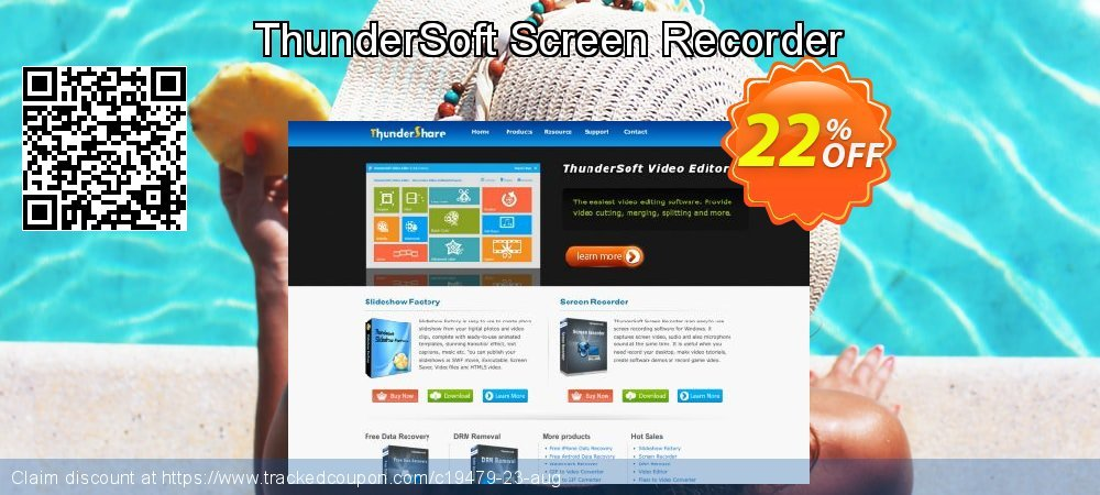 Get 20% OFF ThunderSoft Screen Recorder offering sales