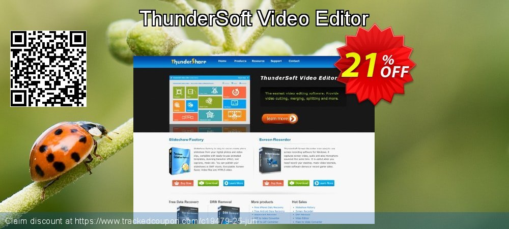 ThunderSoft Video Editor coupon on Back to School offer promotions