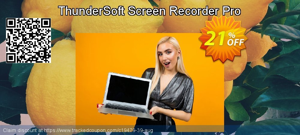 Get 20% OFF ThunderSoft Screen Recorder Pro promo