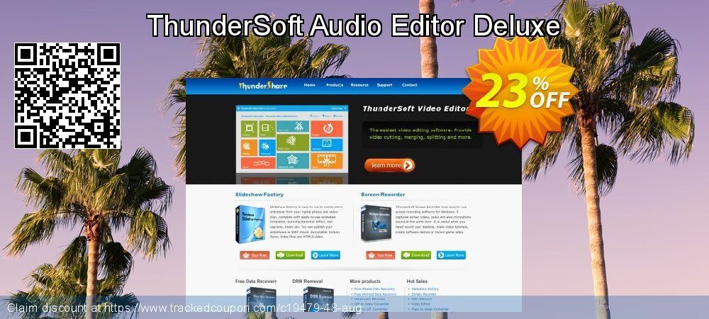 ThunderSoft Audio Editor Deluxe coupon on Int'l. Women's Day discounts