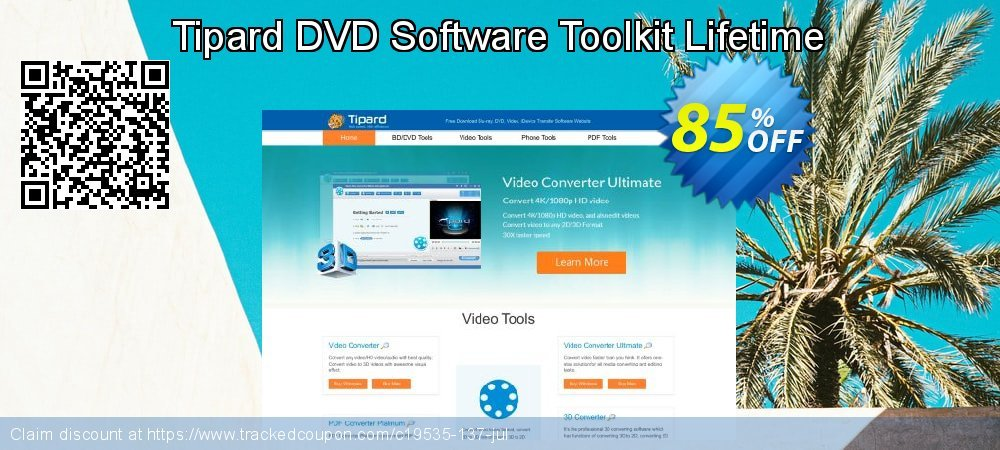 Get 84% OFF Tipard DVD Software Toolkit Lifetime License offering sales