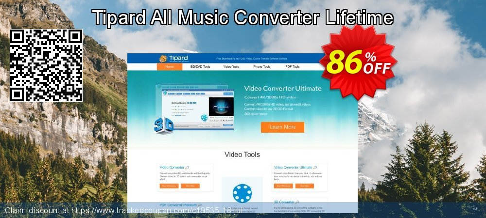 Get 84% OFF Tipard All Music Converter Lifetime License offering discount