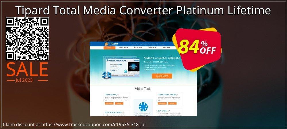 Get 50% OFF Tipard Total Media Converter Platinum Lifetime offering sales