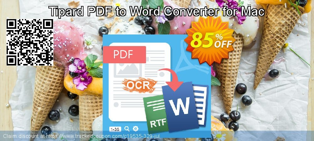 Get 40% OFF Tipard PDF to Word Converter for Mac promo