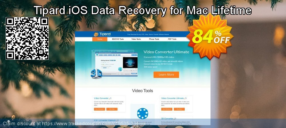 Claim 40% OFF Tipard iOS Data Recovery for Mac Lifetime License Coupon discount May, 2019