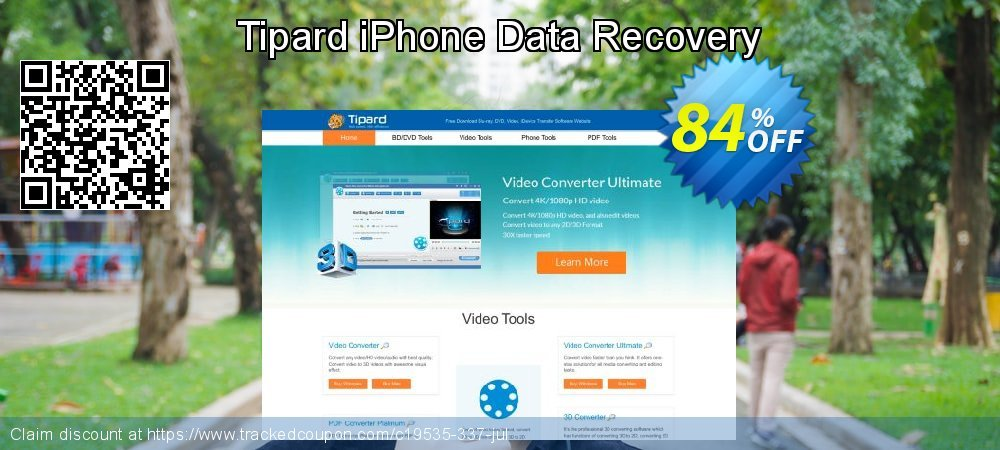 Claim 84% OFF Tipard iPhone Data Recovery Coupon discount August, 2019