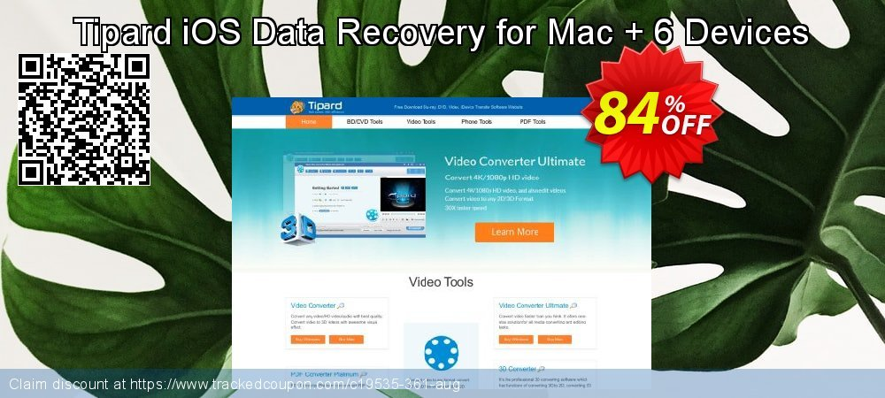 Tipard iOS Data Recovery for Mac + 6 Devices coupon on Back to School coupons offering discount