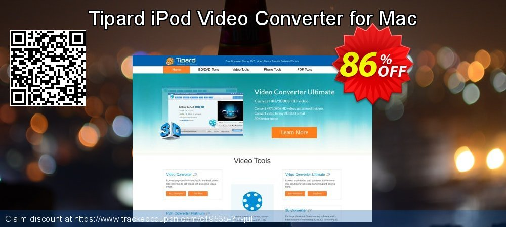 Tipard iPod Video Converter for Mac coupon on Black Friday super sale