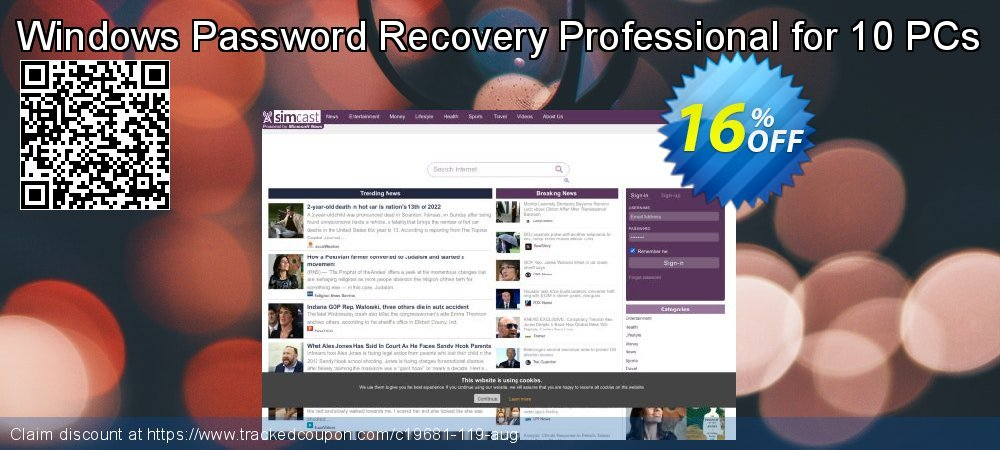 Claim 16% OFF Windows Password Recovery Professional for 10 PCs Coupon discount May, 2020