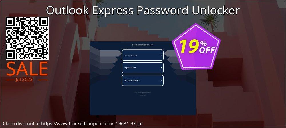 Get 15% OFF Outlook Express Password Unlocker offering sales