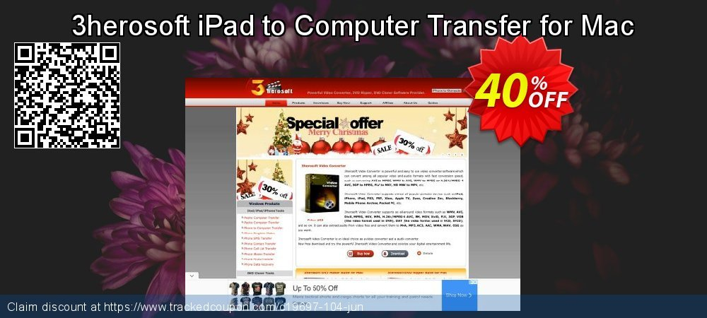 Get 40% OFF 3herosoft iPad to Computer Transfer for Mac promotions