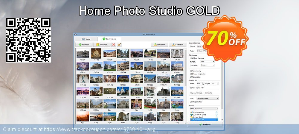 Home Photo Studio GOLD coupon on Halloween offer