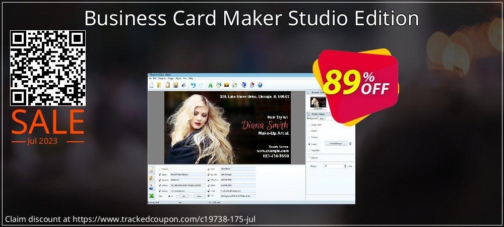 Get 77% OFF Business Card Maker (Studio) offering sales
