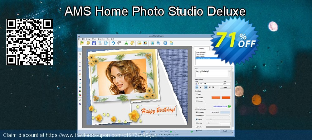 AMS Home Photo Studio Deluxe coupon on Halloween offering discount