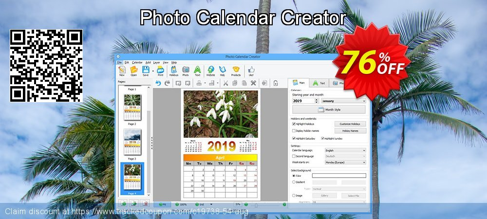 Photo Calendar Creator coupon on Easter discount