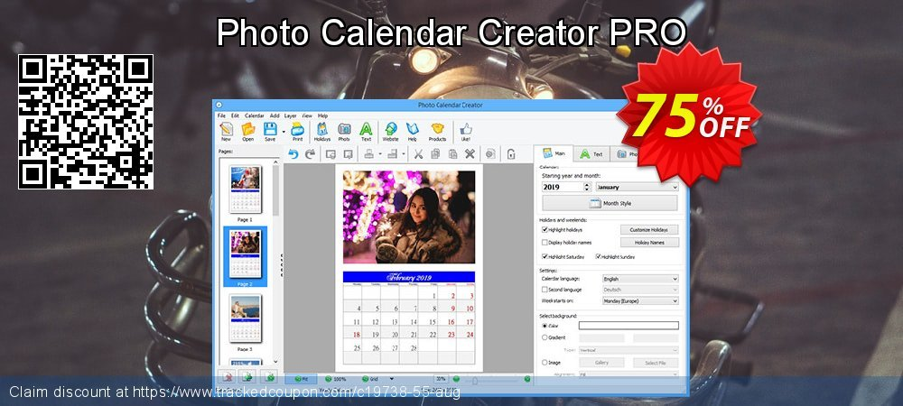 Photo Calendar Creator PRO coupon on Spring offering discount