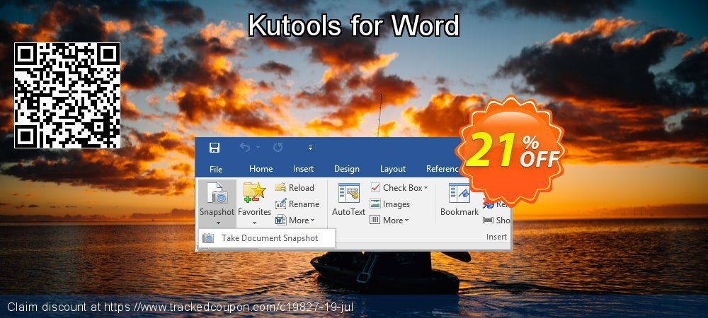 Kutools for Word coupon on Lunar New Year sales