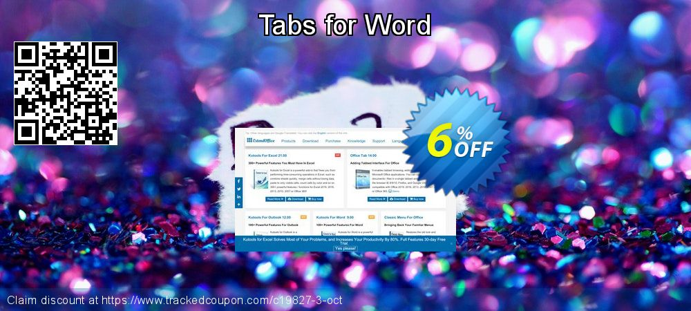 Get 5% OFF Tabs for Word offering sales