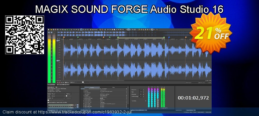 MAGIX SOUND FORGE Audio Studio 14 coupon on Happy New Year sales