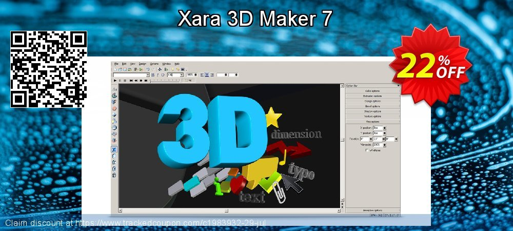 Xara 3D Maker 7 coupon on Mothers Day offering discount
