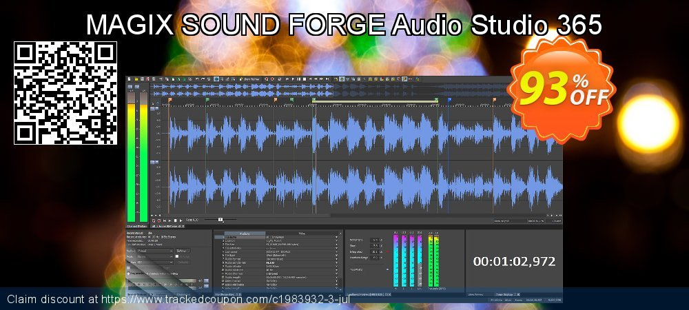 MAGIX SOUND FORGE Audio Studio 365 coupon on Lunar New Year deals