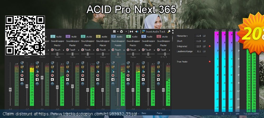 ACID Pro Next 365 coupon on New Year's Day offering discount