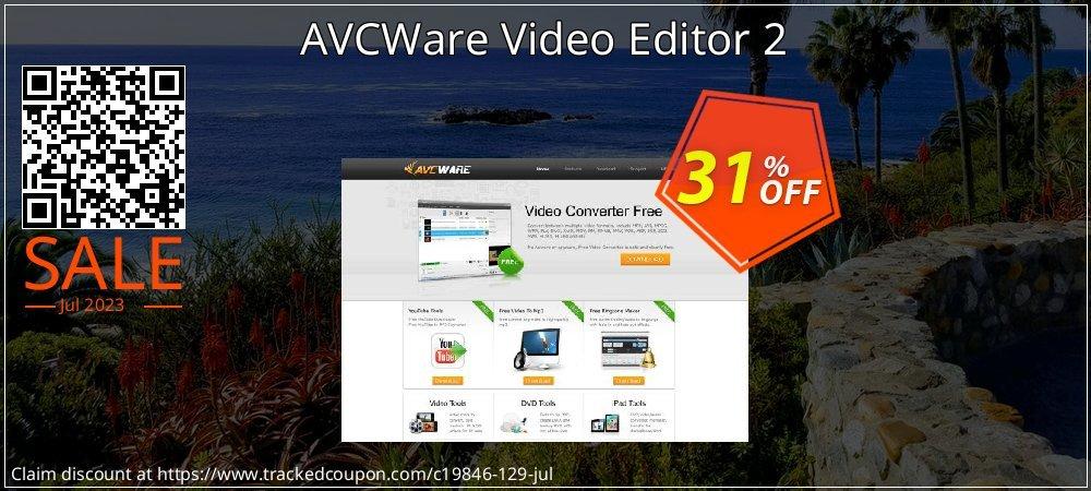 AVCWare Video Editor 2 coupon on Teacher deals offer