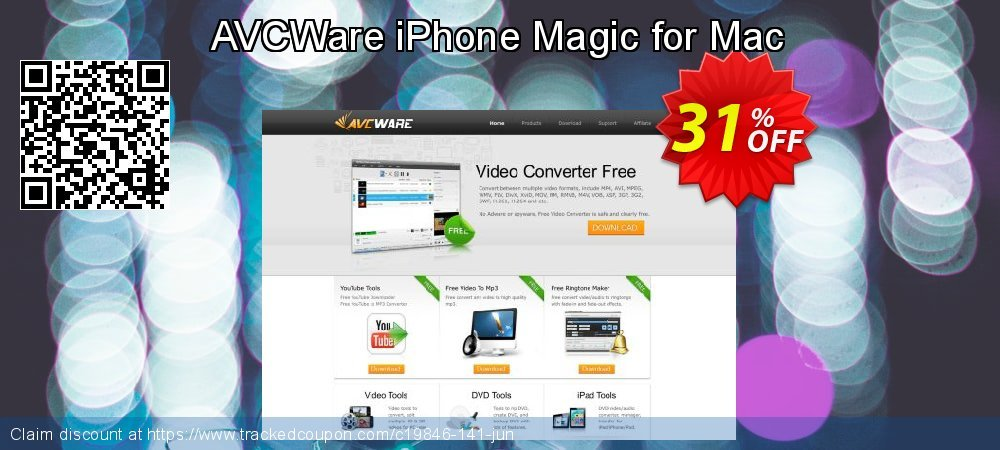 AVCWare iPhone Magic for Mac coupon on Halloween super sale
