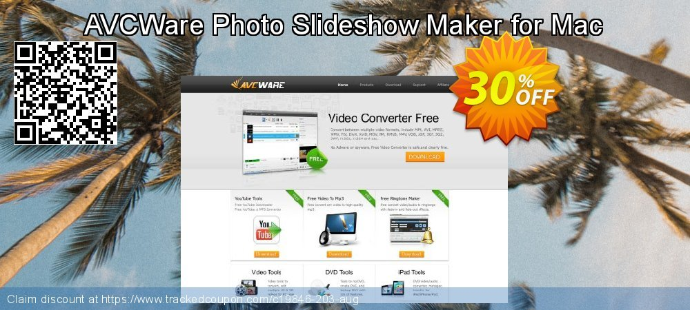 AVCWare Photo Slideshow Maker for Mac coupon on New Year's Day discounts