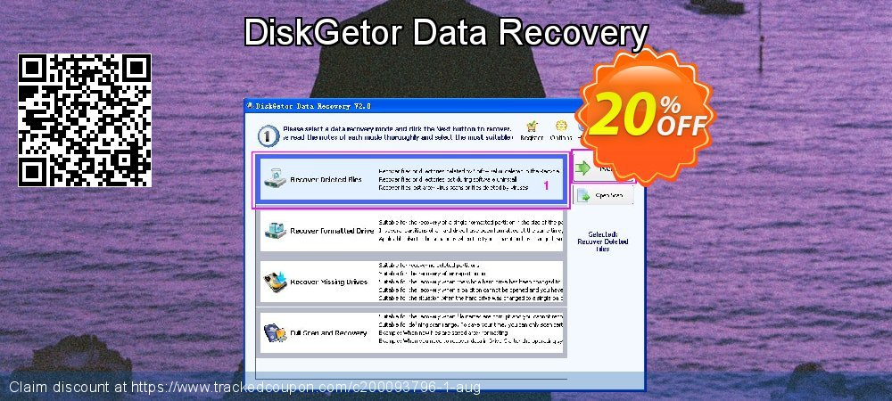 Claim 20% OFF DiskGetor Data Recovery Coupon discount May, 2020