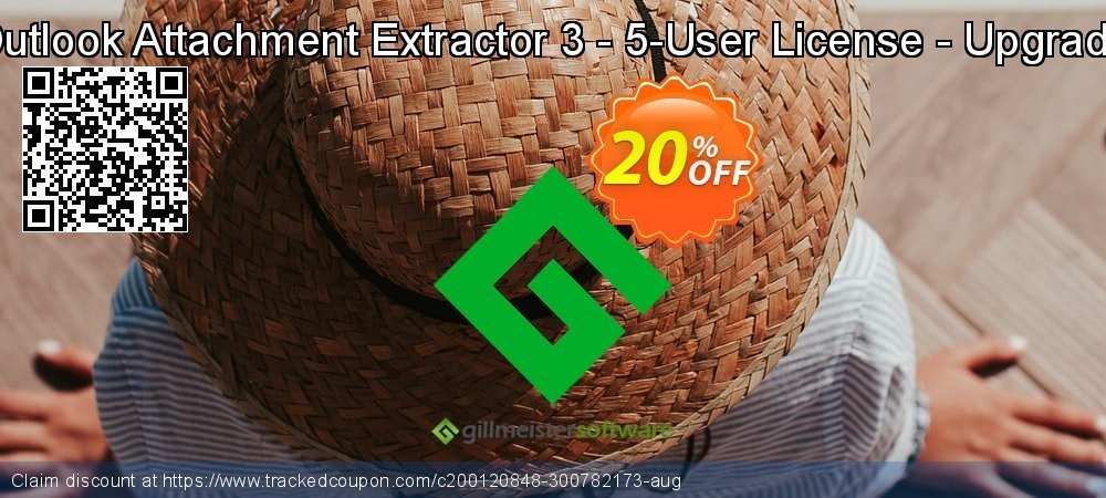 Claim 20% OFF Outlook Attachment Extractor 3 - 5-User License - Upgrade Coupon discount September, 2021