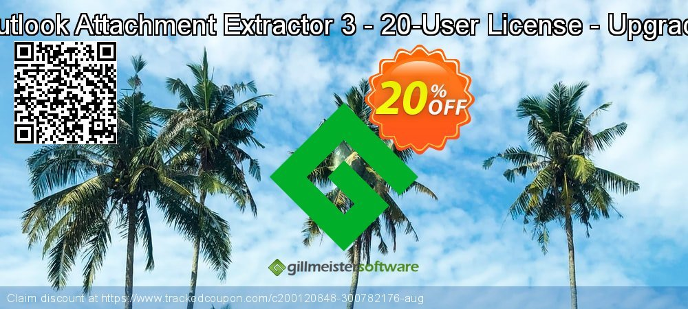 Claim 20% OFF Outlook Attachment Extractor 3 - 20-User License - Upgrade Coupon discount September, 2021
