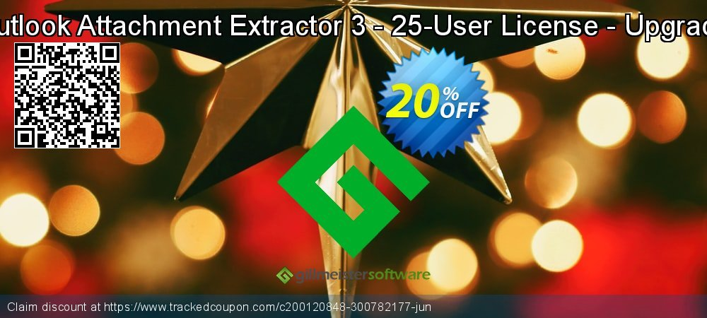 Claim 20% OFF Outlook Attachment Extractor 3 - 25-User License - Upgrade Coupon discount September, 2021