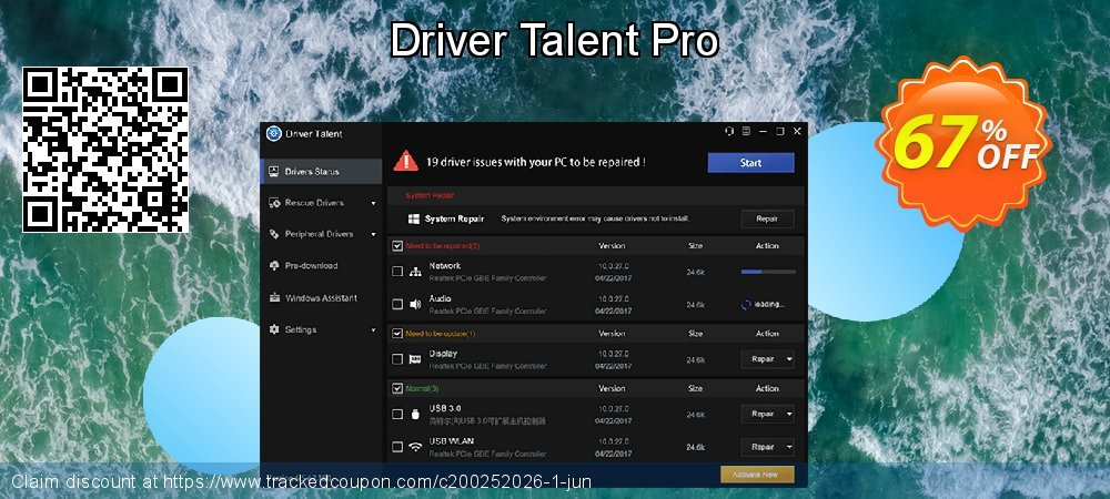Driver Talent Pro coupon on Native American Day sales