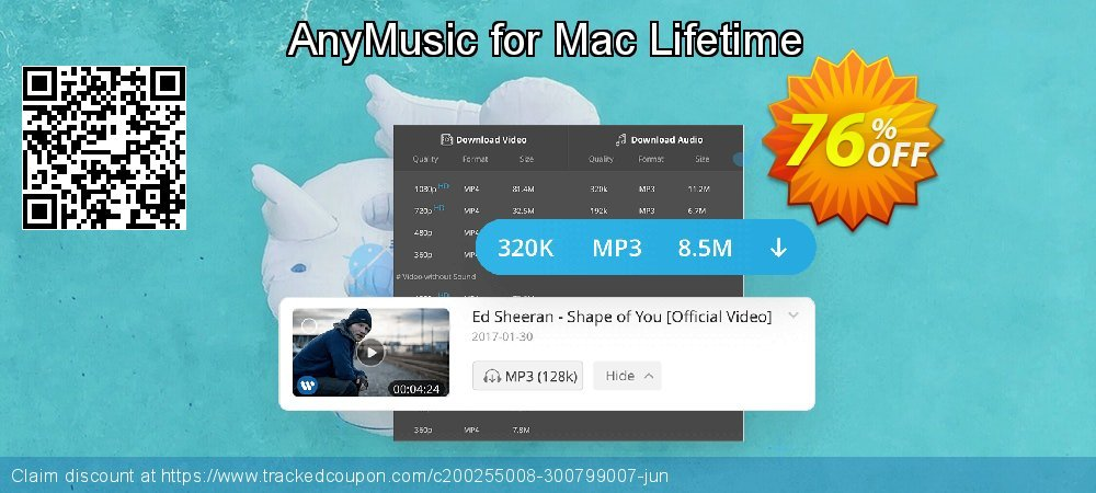 Claim 51% OFF AnyMusic Mac Lifetime Coupon discount February, 2020