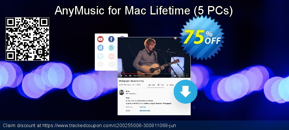 Claim 50% OFF AnyMusic Mac Lifetime - 5 PCs Coupon discount February, 2020