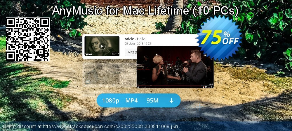 Claim 50% OFF AnyMusic Mac Lifetime - 10 PCs Coupon discount February, 2020