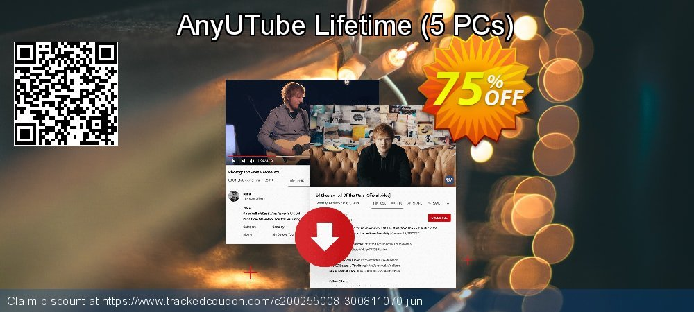 Claim 75% OFF AnyUTube Lifetime - 5 PCs Coupon discount October, 2020