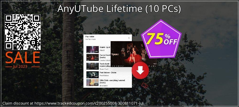 Claim 75% OFF AnyUTube Lifetime - 10 PCs Coupon discount October, 2020