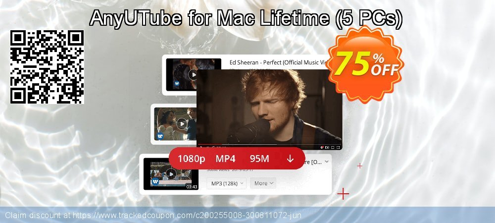 Claim 75% OFF AnyUTube for Mac Lifetime - 5 PCs Coupon discount August, 2020