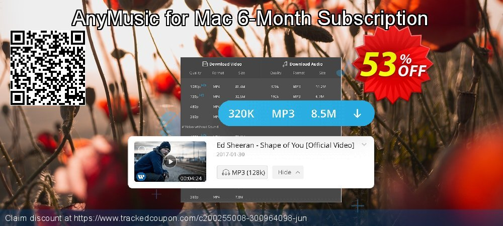 AnyMusic for Mac 6-Month Subscription coupon on Grandparents Day offering sales